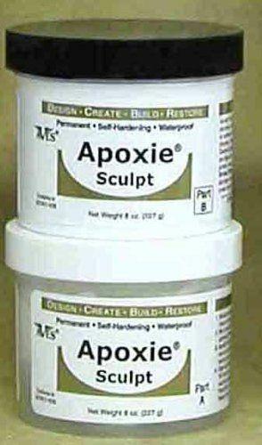 APOXIE SCULPT Red Color 1 pound