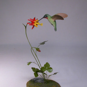 Open-winged Ruby-throated Hummingbird #4