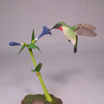 Open-Winged Ruby-throated Hummingbird #1