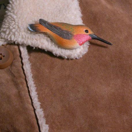 Rufous Hummingbird Feather Pin