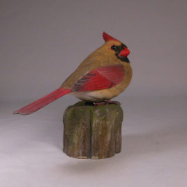 Life size 7″ Female Northern Cardinal #2