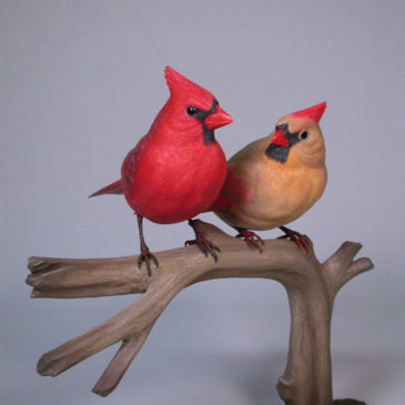 Life size Pair of Northern Cardinal #1