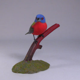 Painted Bunting on branch #2