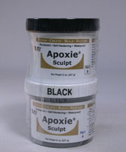 Black Color Apoxie sculpt 1 pound