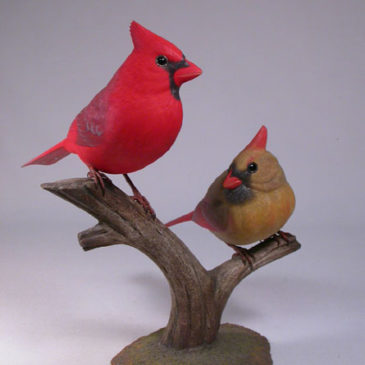 Life size Pair of Northern Cardinal #3