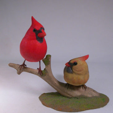 Life size Pair of Northern Cardinal #4