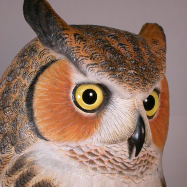 22″ Great Great Horned Owl
