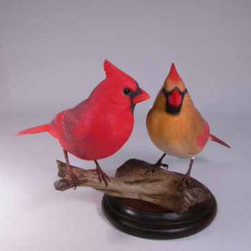 Life size Pair of Northern Cardinal #2