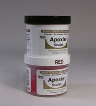 Red Color Apoxie sculpt 1 pound
