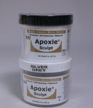 Silver-grey Apoxie sculpt 1 pound